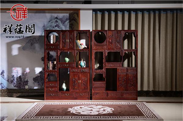 红木博古架尺寸是多少 小客厅可以摆放地下吗