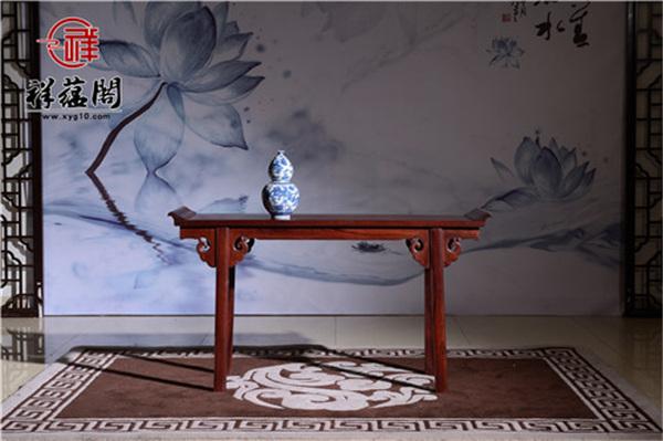 红木条案上的中国风,厅堂里的最美的家具:红木条案的功能和特点