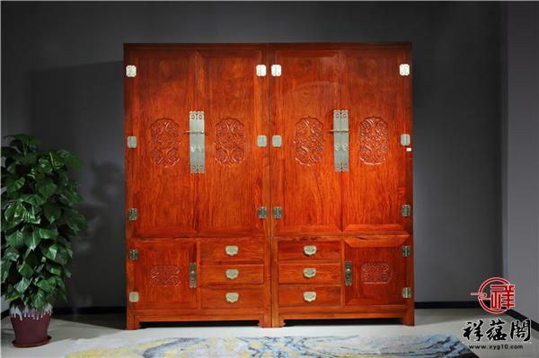 新中式红木家具双面柜装修效果图大全