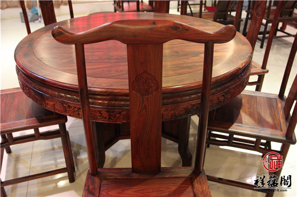 最新红木家具餐桌款式图片大全