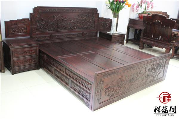 最新红木家具床款式图片大全