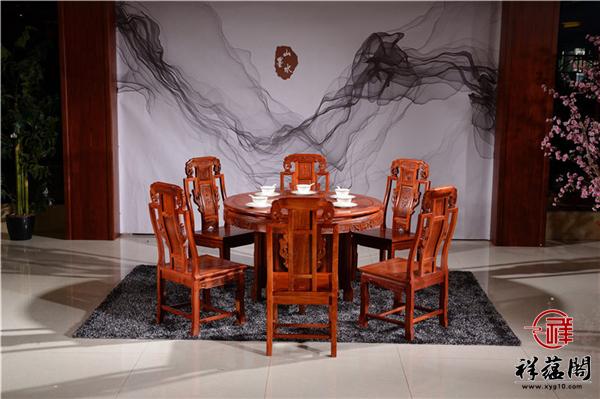 最新红木家具沙发和餐桌款式图片大全