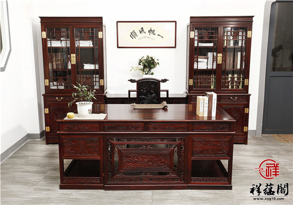最新红木家具书柜及书桌款式图片大全