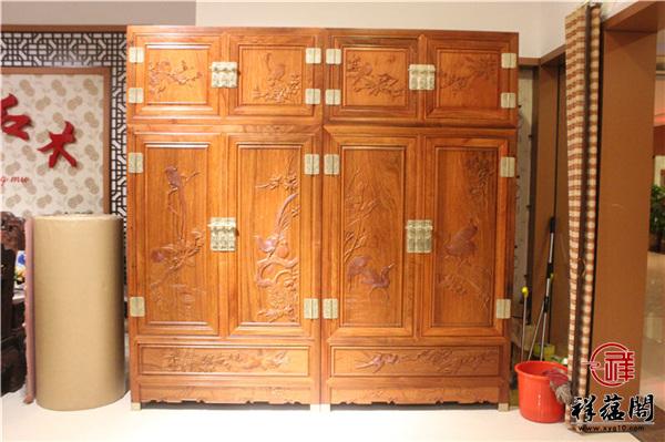 最新红木家具衣柜款式图片大全