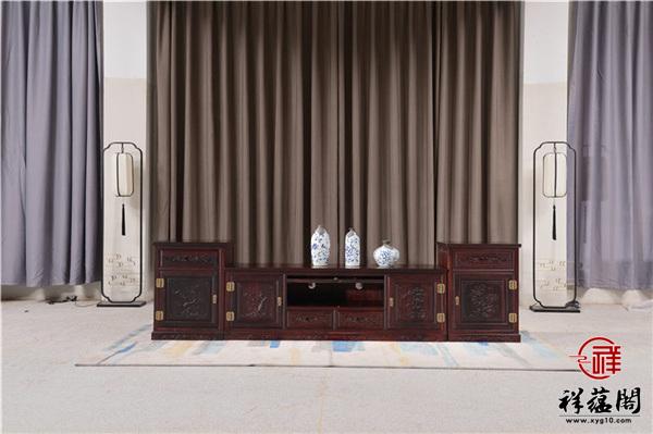 红木电视柜不同规格以及图片欣赏