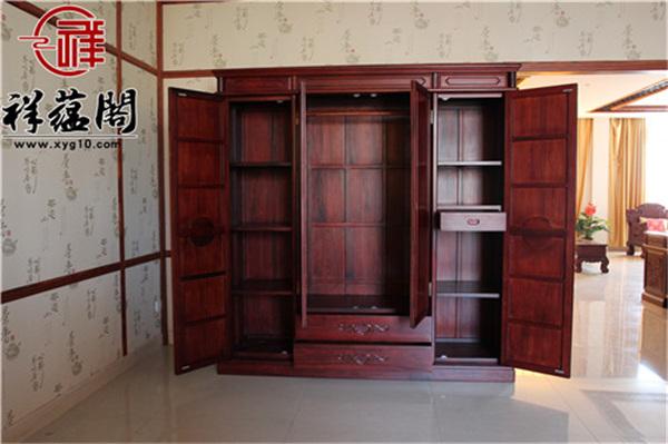最新红木家具大衣柜款式图片大全
