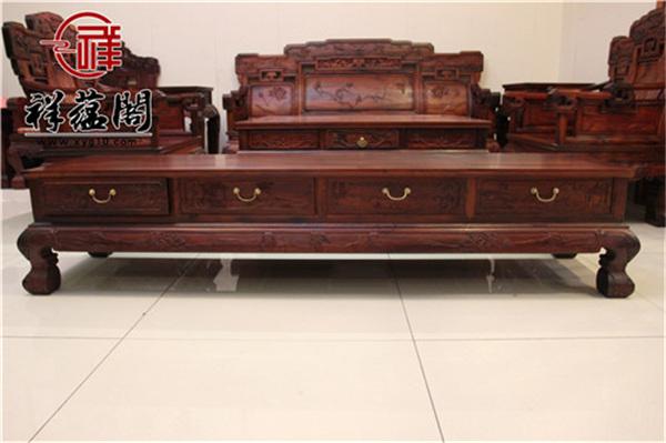 最新红木家具组合电视柜款式图片大全