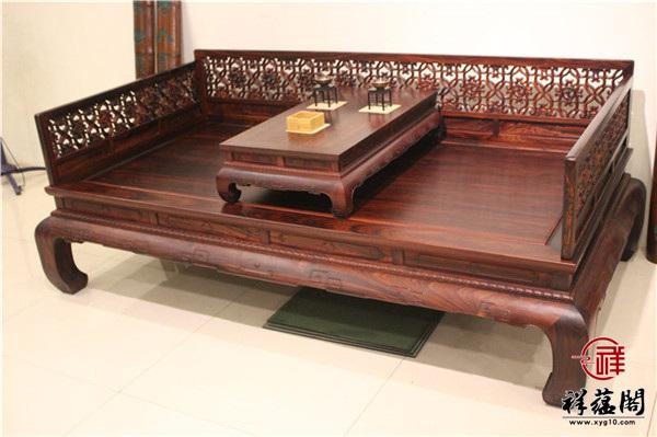 最新红木家具罗汉床款式图片大全