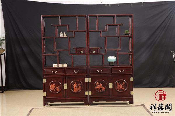 中式古典红木家具博古架价格是多少