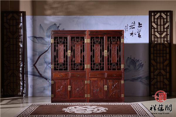 最新红木家具的书柜图片大全