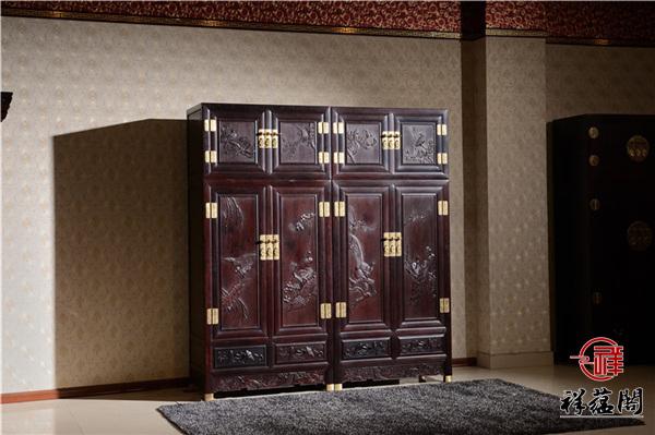 古典红木家具顶箱柜合叶安装技巧