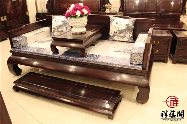 最新红木家具配套的贵妃椅款式图片大全