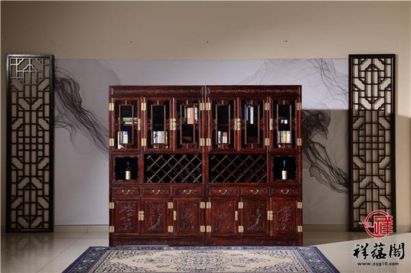 最新款红木家具酒柜图片欣赏