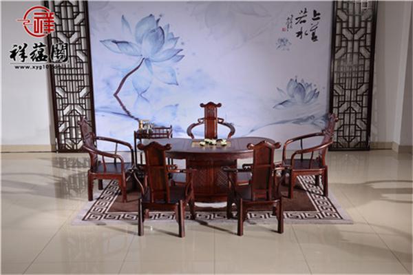 东阳红木家具城茶桌价格是多少