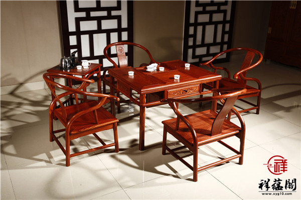 最新红木家具大茶桌款式图片欣赏