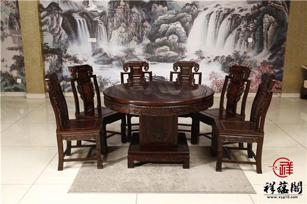 最新款红木餐桌椅图片大全