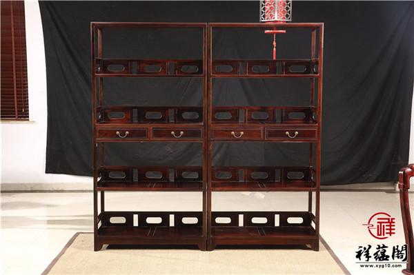 最新款式红木隔厅柜图片欣赏