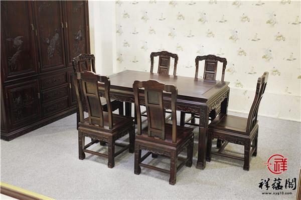 黑酸枝西餐桌价格及图片大全
