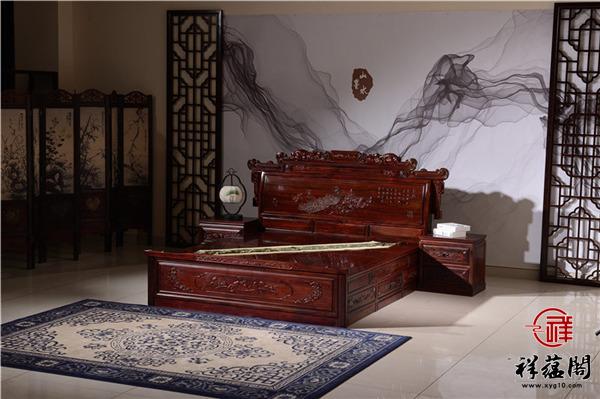 黑酸枝大床价格及图片大全