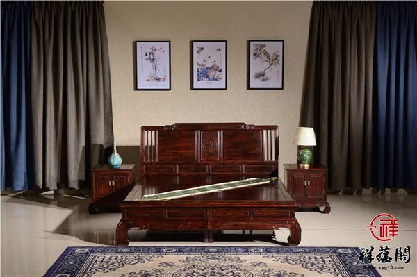 黑酸枝架子床价格及尺寸大全