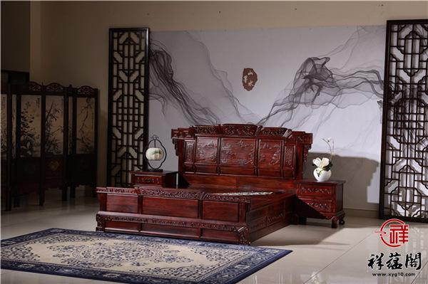 黑酸枝木床价格及图片大全