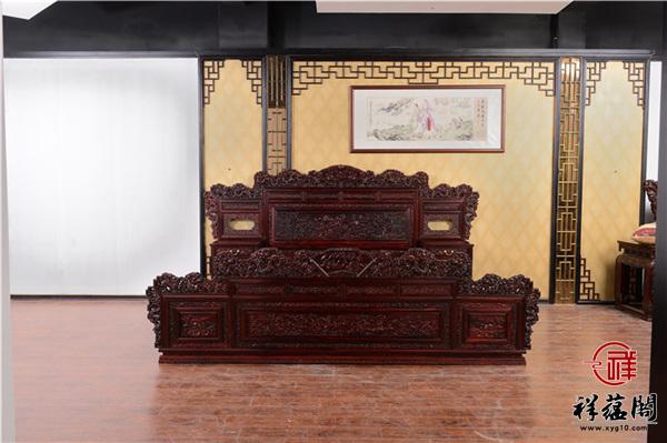 中式黑酸枝床价格及图片大全