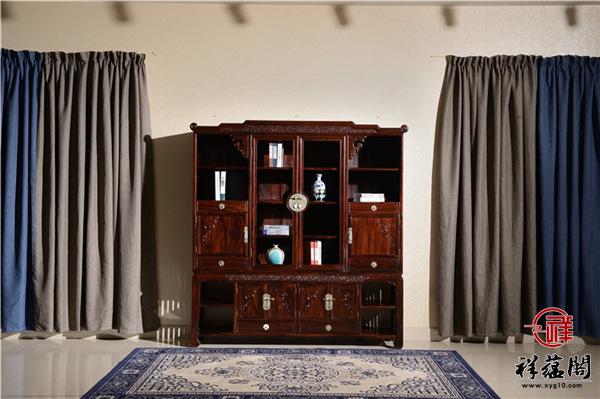 黑酸枝书柜尺寸规格标准