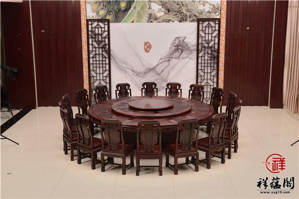 黑酸枝圆餐桌价格及尺寸大全