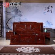 红木家具搭配什么床