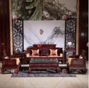 欧式红木家具搭配什么颜色窗帘效果图